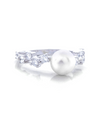 Harriet Pearl Engagement Ring with Swarovski