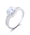 Gabrielle Engagement Ring with Swarovski