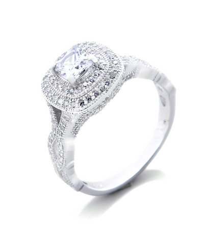 Carlie Engagement Ring with Swarovski