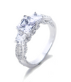 Mia Threestone Engagement Ring with Swarovski