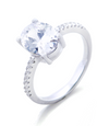 Olivia Engagement Ring with Swarovski