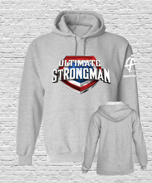 Ultimate Strongman  Hoodie Sports Grey