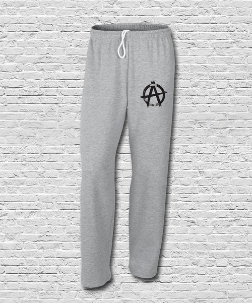 Sports Grey Embroidered Logo Sweatpants