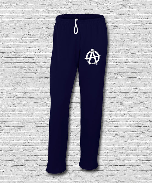 Navy Embroidered Logo Sweatpants