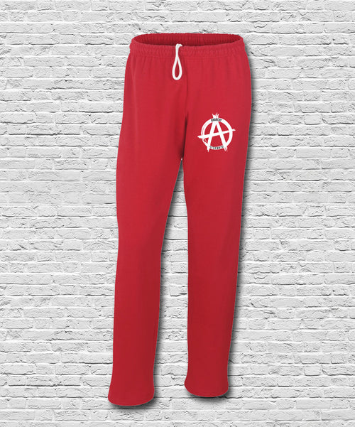 Red Embroidered Logo Sweatpants
