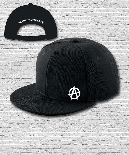 Black Double Embroidered Snapback Cap
