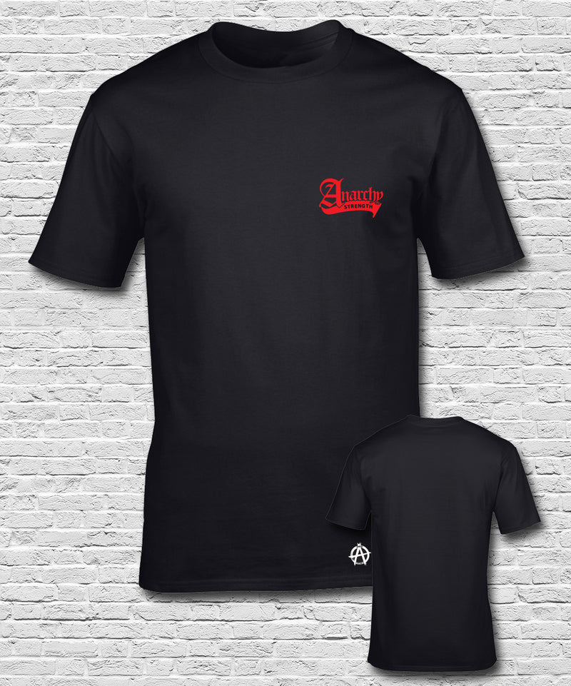 Red Embroidered Black T-shirt