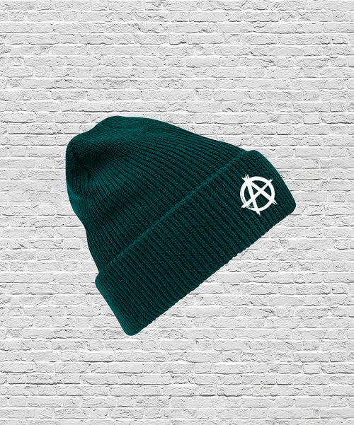 Logo Beanie Bottle Green