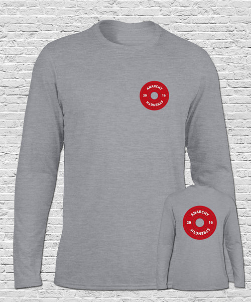 PRE ORDER !! Anarchy Plate on Sports Grey Long Sleeve Tshirt