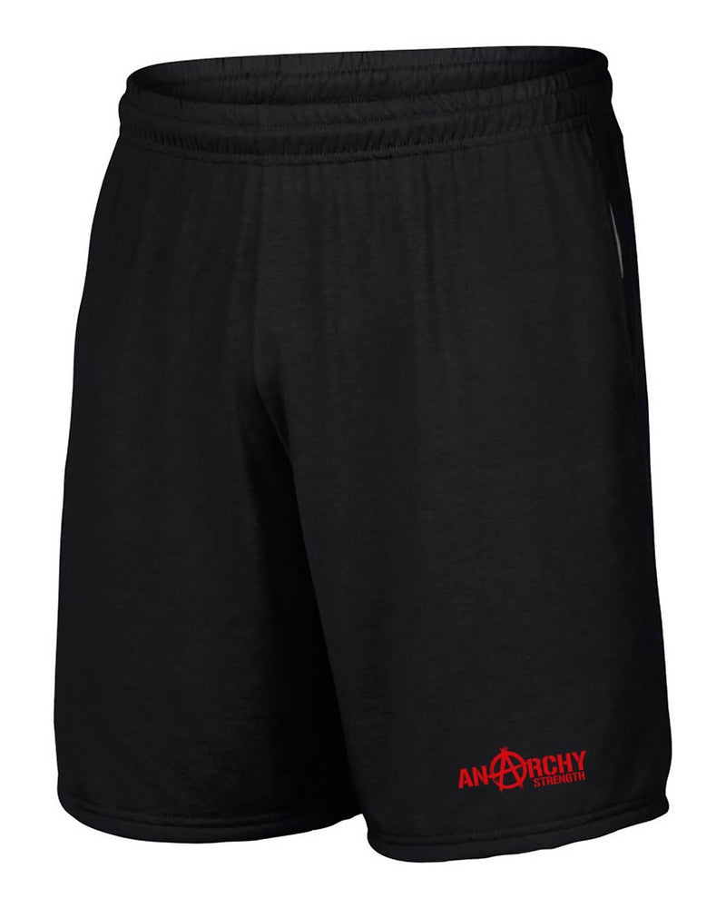 Performance Black Shorts with red logo