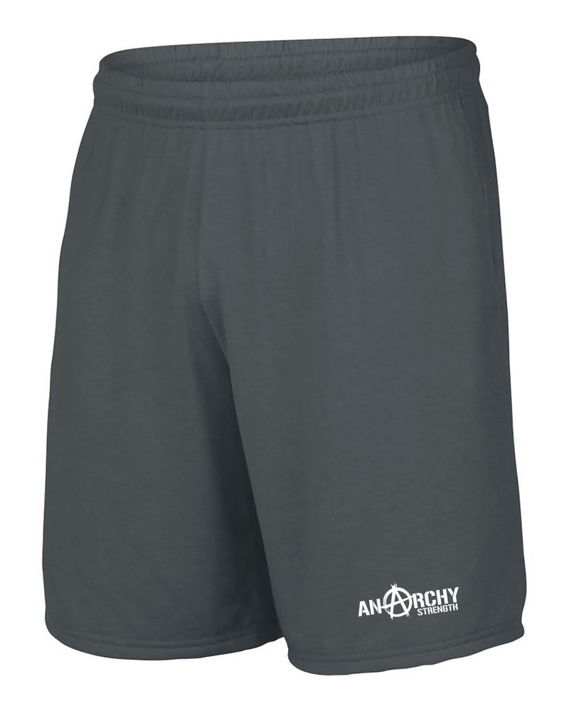 Performance Grey Shorts with White logo