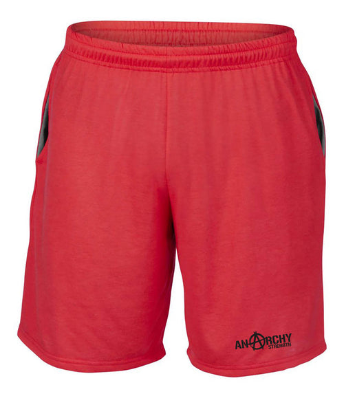 Performance Red Shorts with Black logo
