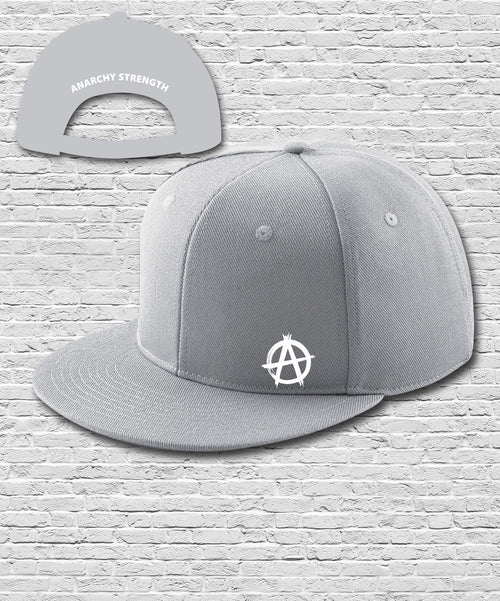 Grey Double Embroidered Snapback Cap