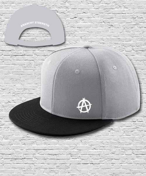 Grey Black Double Embroidered Snapback Cap