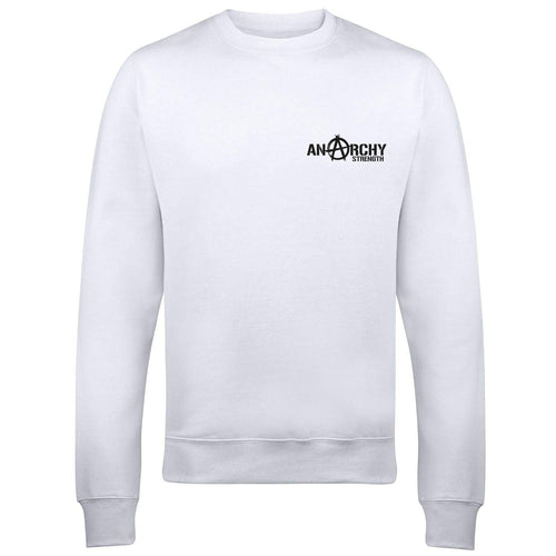 White Sweatshirt black logo