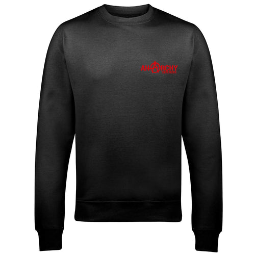 Black Sweatshirt with red logo