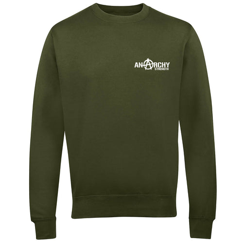Olive Sweatshirt with white logo