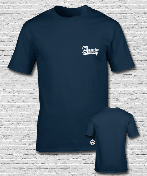 White Embroidered Navy -Tshirt