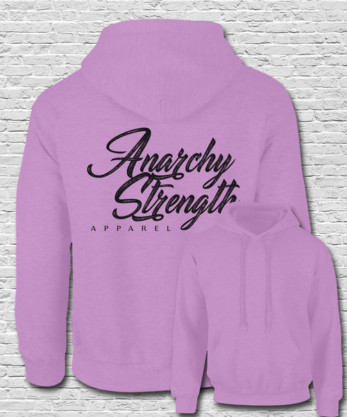 Black Apparel Logo on Pink Hoodie
