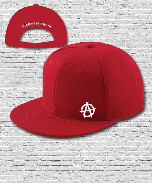 Red Double Embroidered Snapback Cap