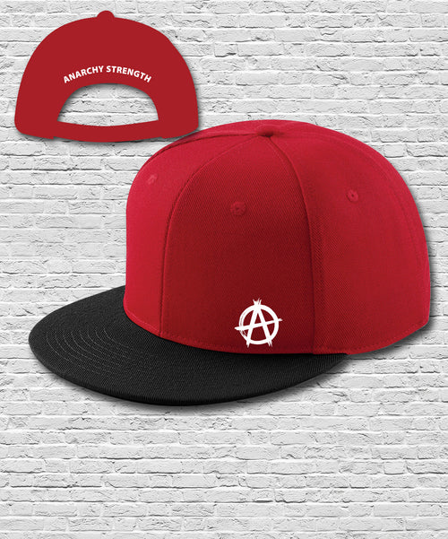 Red Black Double Embroidered Snapback Cap