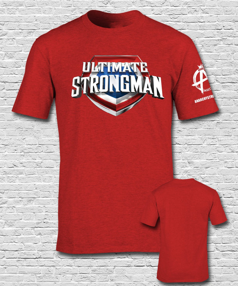 Ultimate Strongman  T-shirt Red