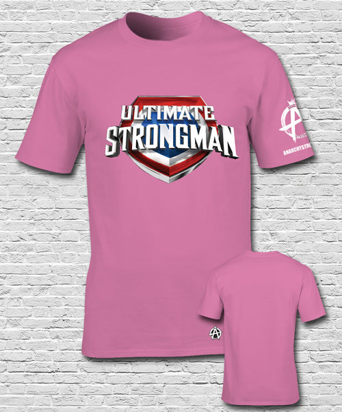 Ultimate Strongman  T-shirt Pink