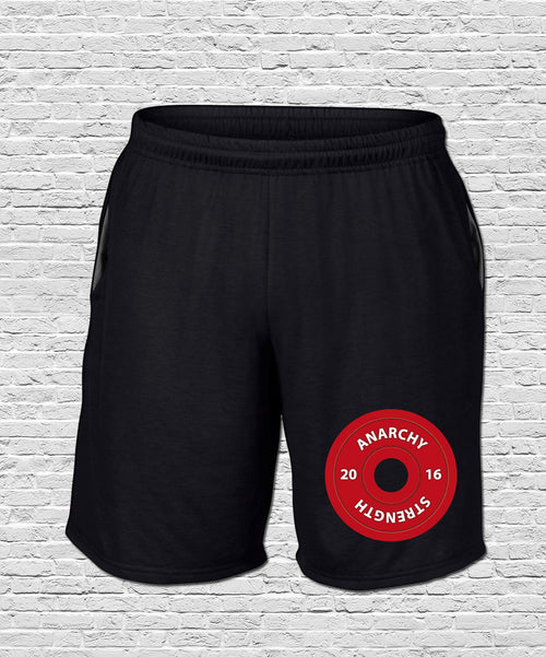 PRE ORDER !!!!  Anarchy Plate on Black Shorts