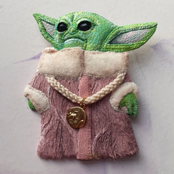 DAY 29 - THE LITTLE FORCE-SENSITIVE CHILD Handmade Fabric Brooch