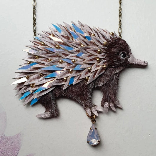 DAY 10 - THE MAGICAL ECHIDNA Handmade Fabric Necklace