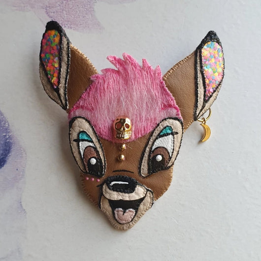 DAY 11 - CANDY BAMBI BABY Handmade Fabric Brooch