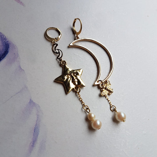 STAR BOYS DREAM Handmade Earrings - Triangle of Bears