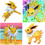DAY 26 - EEVEE'S JOLTEON EVOLUTION AFTER FINDING THE THUNDER STONE Handmade Fabric Necklace - Triangle of Bears