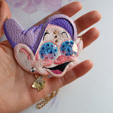 DAY 9 - DAZZLING DIAMOND EYES DOPEY Handmade Fabric Necklace - Triangle of Bears