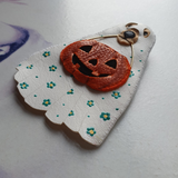 DAY 5 - TRICK-OR-TREATING DOGGO Handmade Fabric Brooch - Triangle of Bears