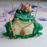 VAMPIRE FROG PRINCE Handmade Fabric Necklace - Triangle of Bears