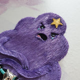 DAY 16 - GRUMPY LUMPY SPACE WARRIOR-PRINCESS Handmade Fabric Brooch