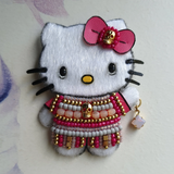 DAY 23 - FOREVER YOUNG HELLO KITTY Handmade Fabric Brooch