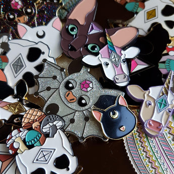 MYSTERY PIN PAIR Enamel Pin set (Factory Seconds) - Triangle of Bears