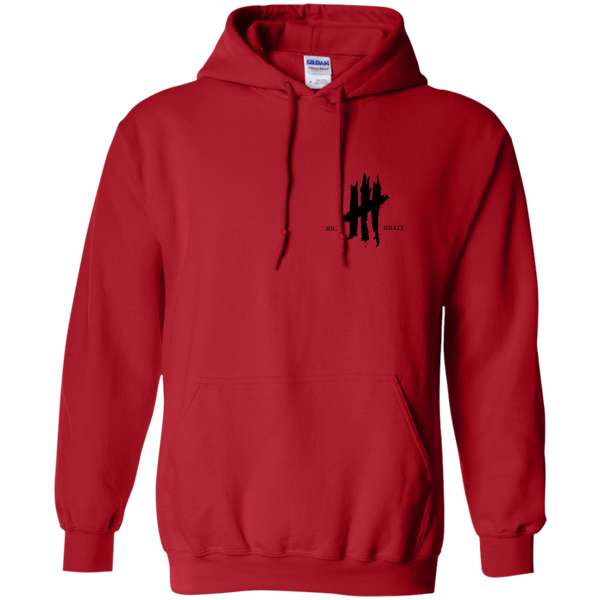 Red and Black 10 Year Anniversary Hoodie