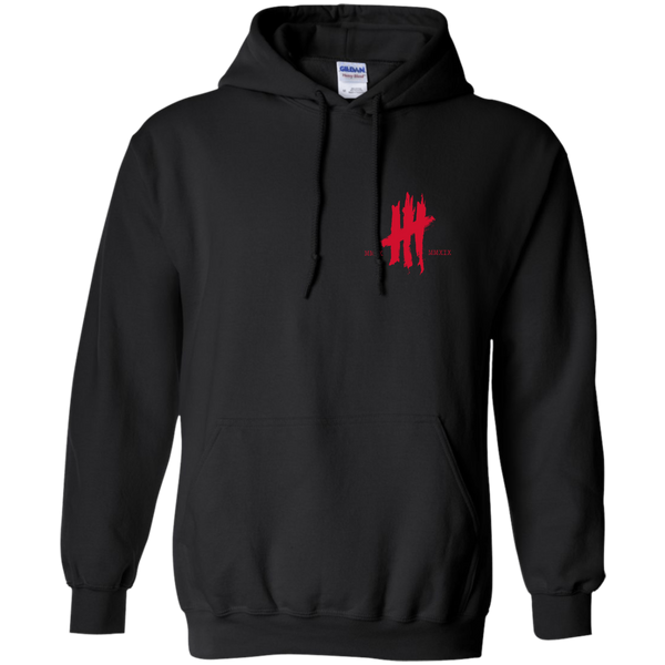 Black and Red 10 Year Anniversary Hoodie