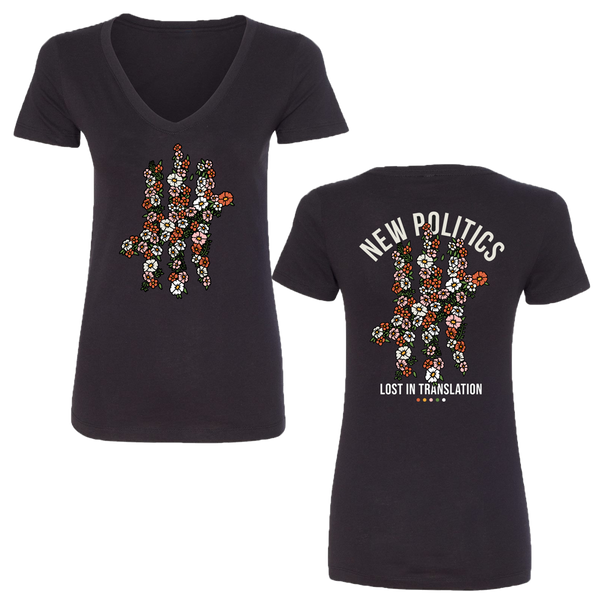 Flower Ladies V Neck