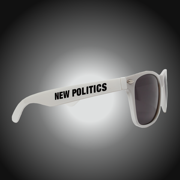 White Logo Sunglasses