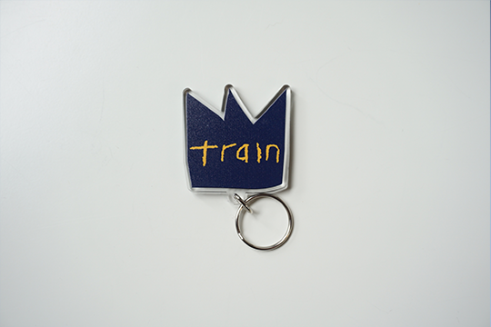 Blue and Yellow Crown Keychain