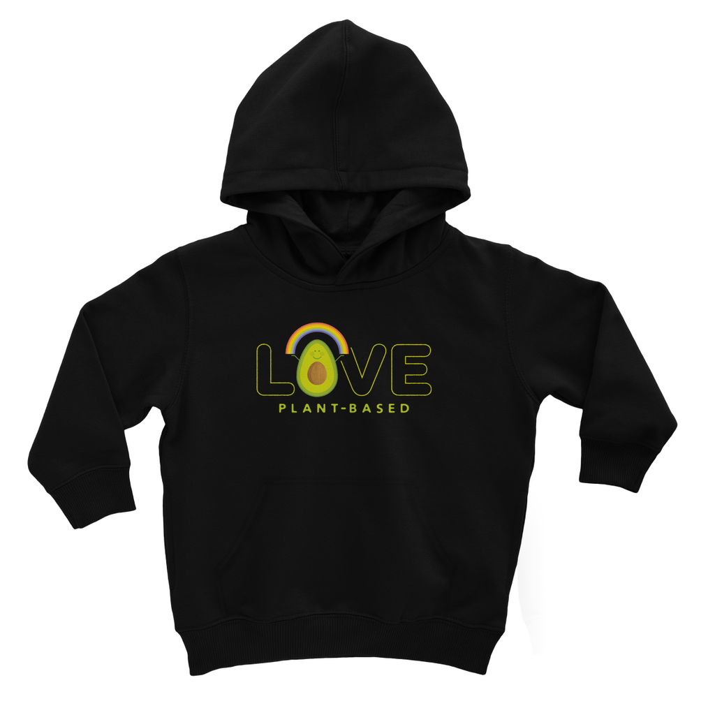 Love plantbased - vegan kids hoodie