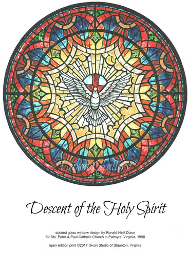 Descent of the Holy Spirit - open edition print, unframed