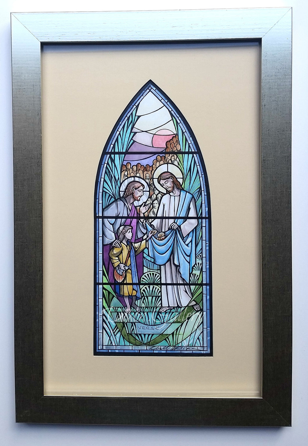 Feeding the Multitudes - original design, framed