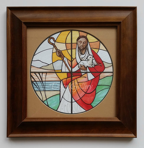 Good Shepherd - original design, framed