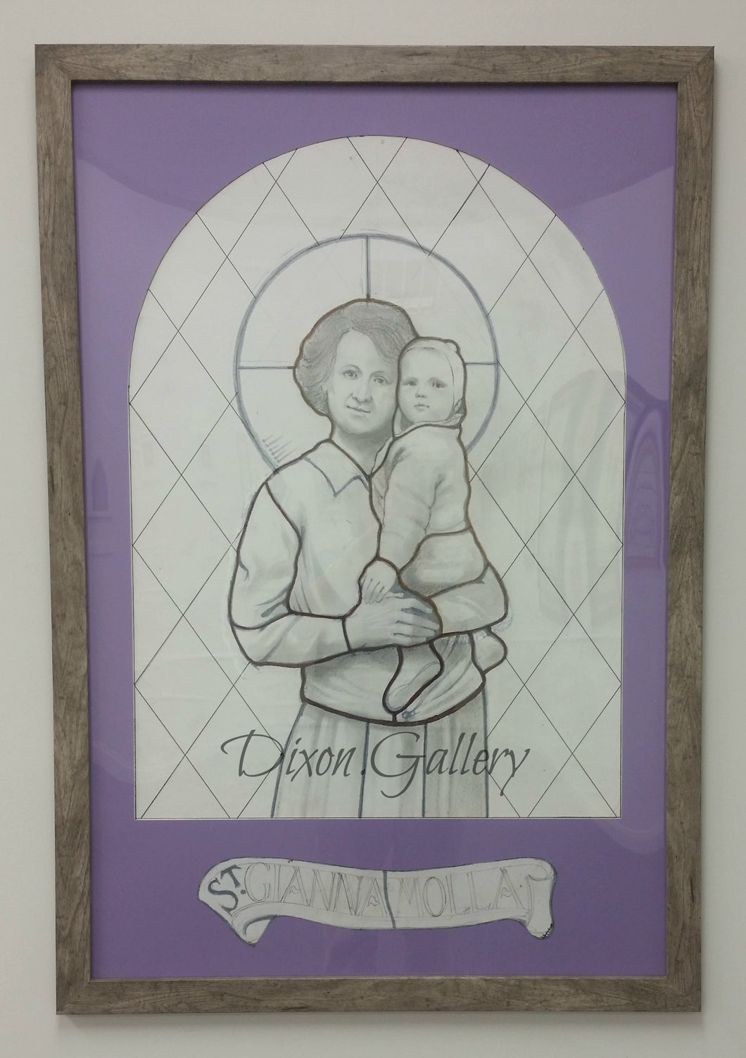 St. Gianna Molla - working drawing