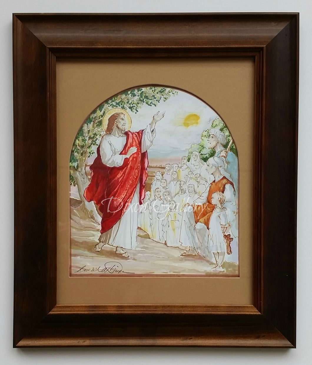 The Beatitudes - original design, framed